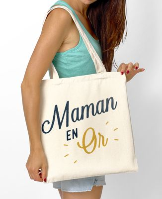 Tote bag Maman en Or