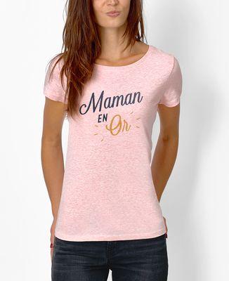 T-Shirt femme Maman en Or