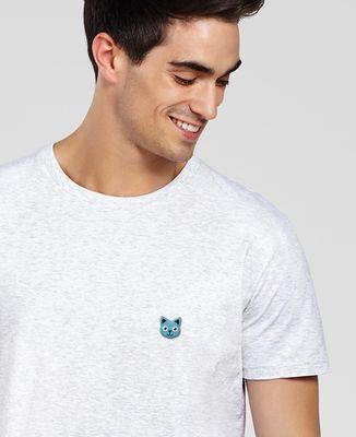T-Shirt homme Tête de chat (brodé)