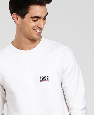 Sweatshirt homme Année brodée personnalisée
