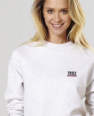 Sweatshirt femme Année brodée personnalisée