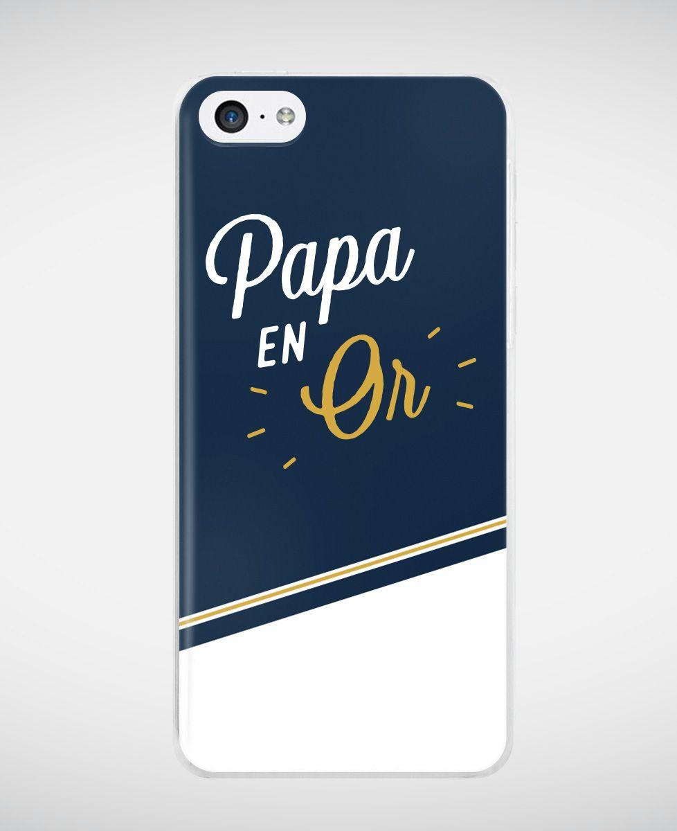 Coque smartphone Papa en Or