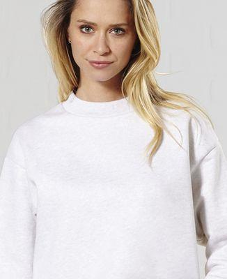 Sweatshirt femme Tricolore brodé personnalisé