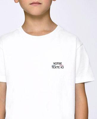 T-Shirt enfant Tricolore brodé personnalisé