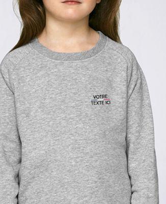 Sweatshirt enfant Tricolore brodé personnalisé