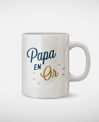 Mug Papa en Or