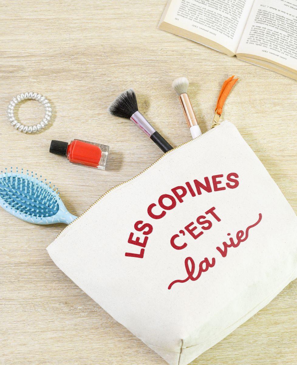 Trousse Les copines c'est la vie (effet velours)