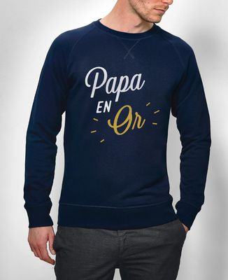 Sweatshirt homme Papa en Or