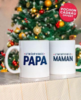 Coffret Mugs L'incroyable papa + l'incroyable maman
