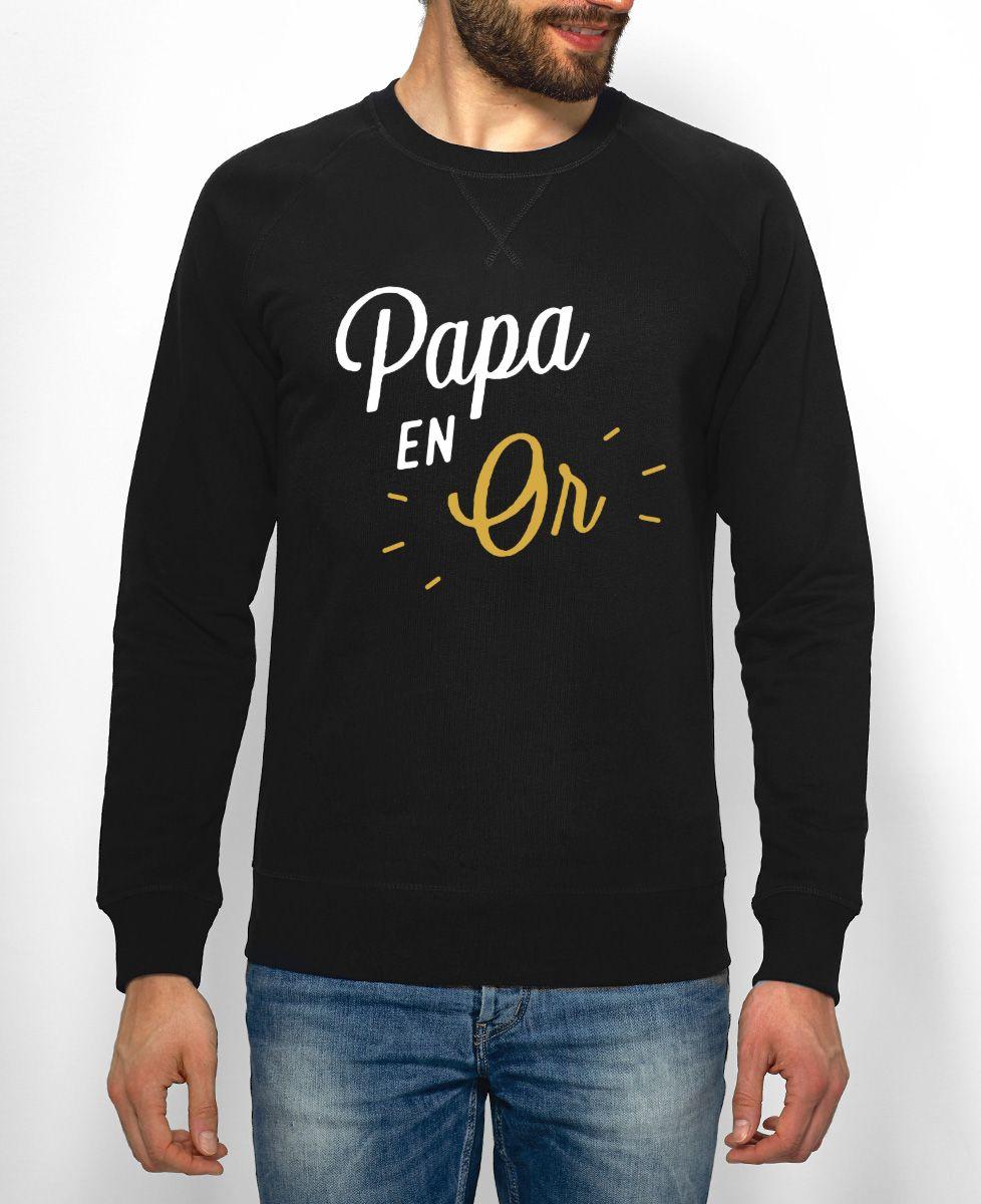 Sweatshirt homme Papa en Or
