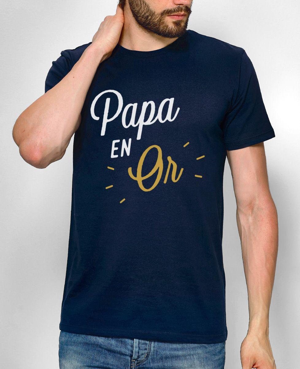 taille 40 performance fiable bien connu T-shirt Papa en Or | Monsieur TSHIRT | Cadeau fete des peres