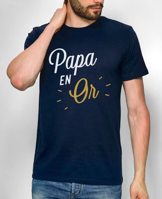 T-Shirt homme Papa en Or