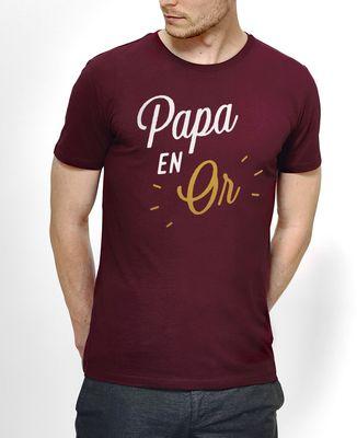 T-Shirt homme Papa en Or