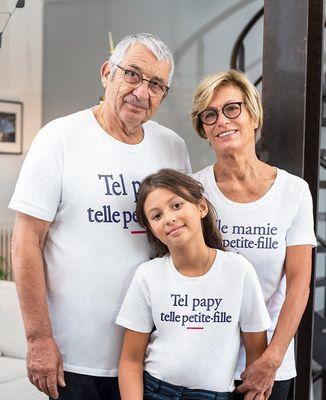 T-Shirt homme Tel papy telle petite-fille