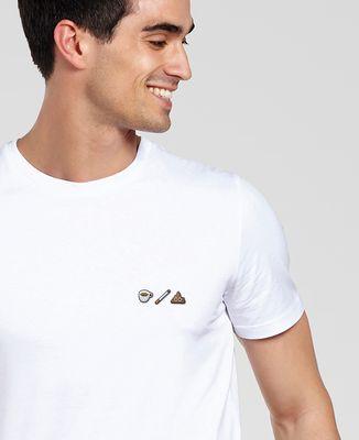 T-Shirt homme Café clope caca (brodé)