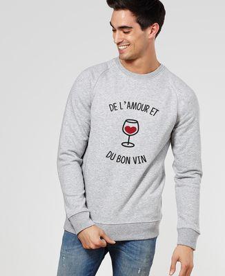 Sweatshirt homme De l'amour et du bon vin