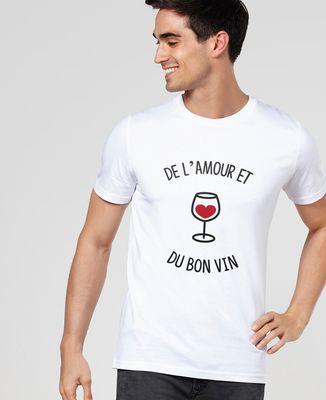 T-Shirt homme De l'amour et du bon vin