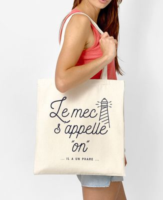 Tote bag Le mec s'appelle On