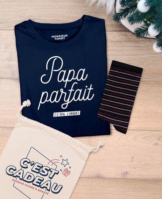 Coffret Papa parfait + chaussettes fines rayures