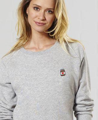 Sweatshirt femme Nutelove (brodé)