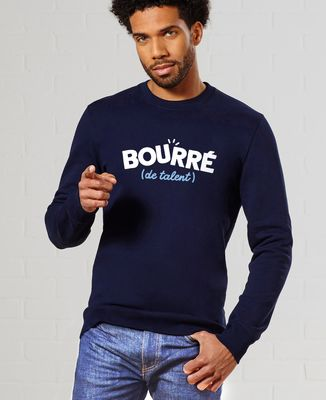 Sweatshirt homme Bourré de talent