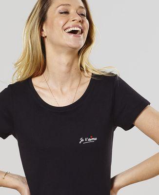 T-Shirt femme Je t'aime (brodé)