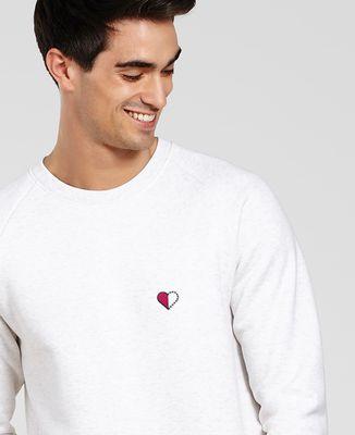 Sweatshirt homme Duo Coeur pointillé (brodé)