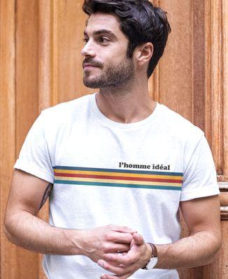 T-Shirt homme Bandes de couleur personnalisé