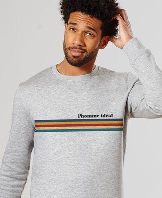 Sweatshirt homme Bandes de couleur personnalisé