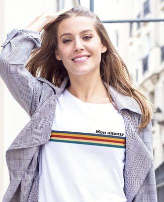 T-Shirt femme Bandes de couleur personnalisé