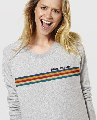 Sweatshirt femme Bandes de couleur personnalisé