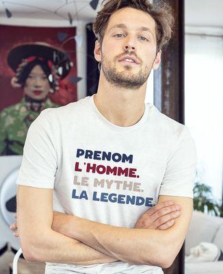 T-Shirt homme L'homme le mythe la légende personnalisé