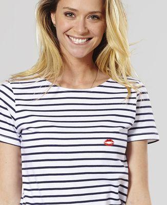 T-Shirt femme Bouche rouge (brodé)