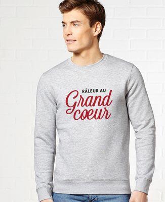 Sweatshirt homme Râleur au grand coeur