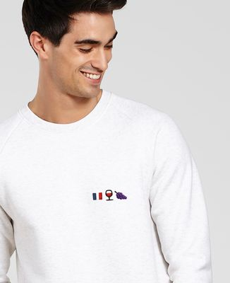 Sweatshirt homme French wine (brodé)