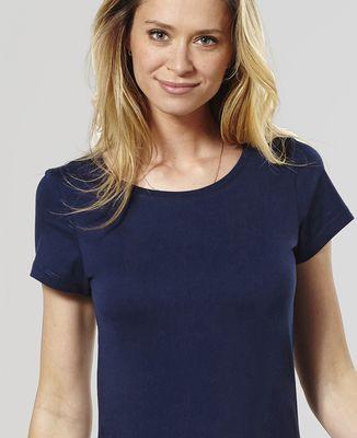 T-Shirt femme Texte et coeur brodé personnalisé