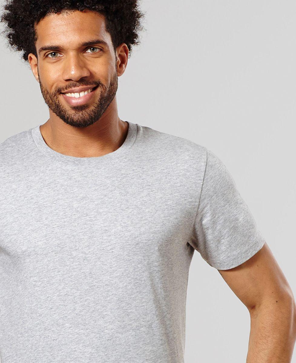 T-Shirt homme Texte et coeur brodé personnalisé