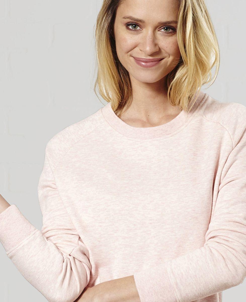 Sweatshirt femme Texte et coeur brodé personnalisé