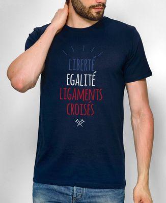 T-Shirt homme Liberté Égalité Ligaments croisés