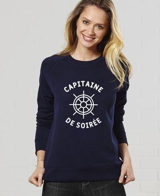 Sweatshirt femme Capitaine de soirée