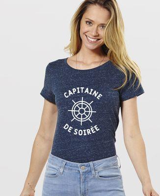 T-Shirt femme Capitaine de soirée
