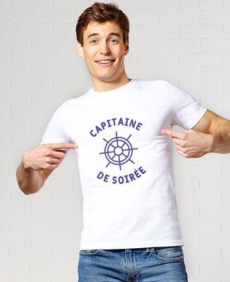 T-Shirt homme Capitaine de soirée