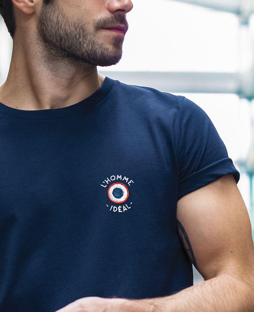 T-Shirt homme L'homme idéal cocarde (brodé)