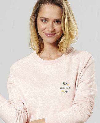 Sweatshirt femme Fleurs brodées personnalisé