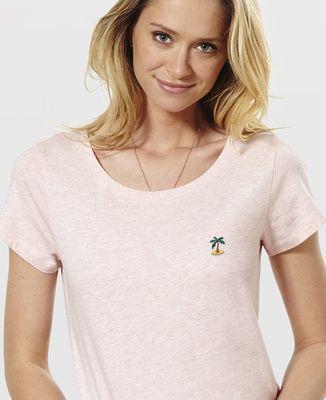 T-Shirt femme Palmier (brodé)