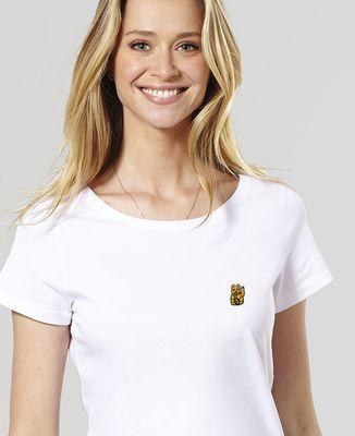 T-Shirt femme Lucky Cat (brodé)