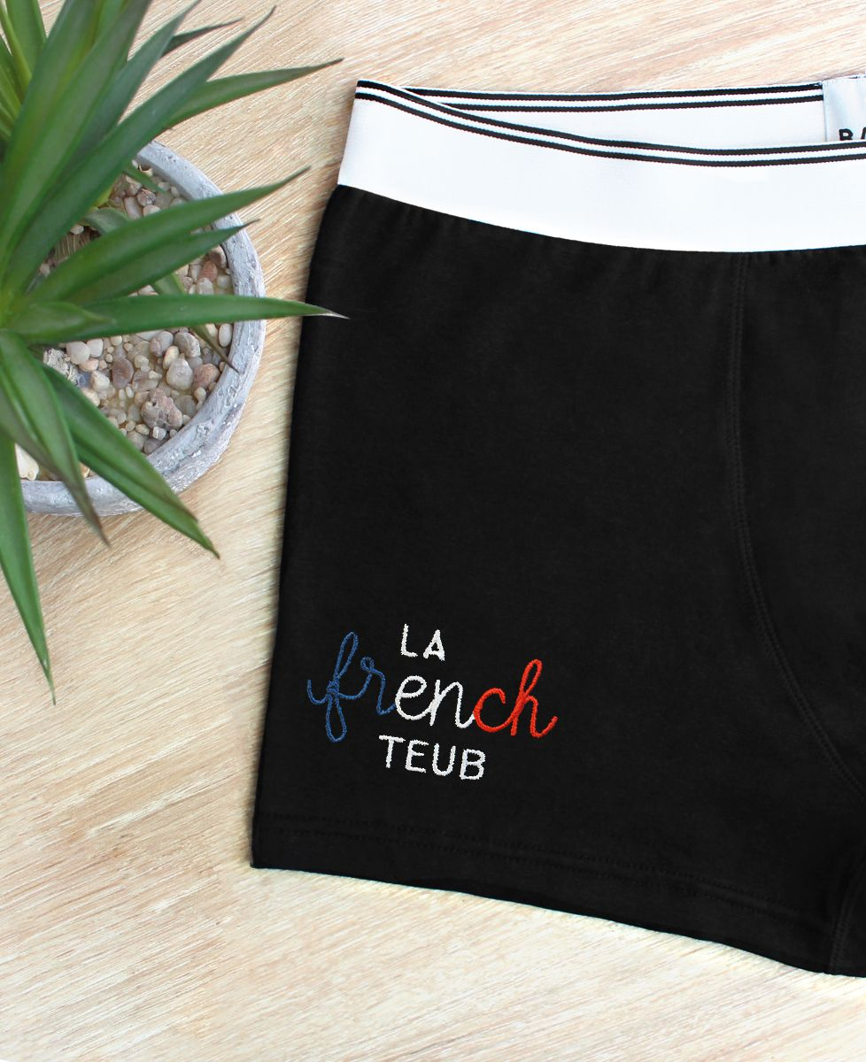 Boxer La French teub (brodé)