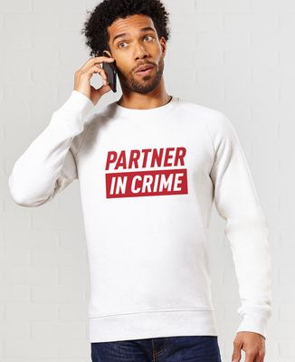 Sweatshirt homme Partner in crime (effet velours)
