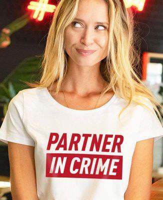 T-Shirt femme Partner in crime (effet velours)