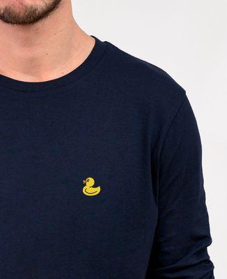T-Shirt homme manches longues Canard jaune (brodé)